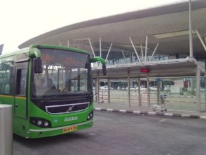 Airport bus stop at Bengaluru Airport