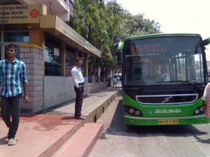 Airport bus stop at Kempegowda/Majestic bus station Bengaluru