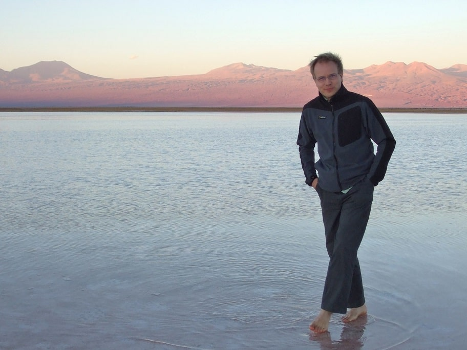 Walking on water in San Pedro de Atacama, Chile