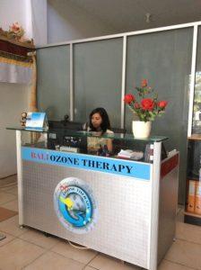 Bali Ozone Therapy - Kuta reception - image courtesy of Bali Ozone Clinic