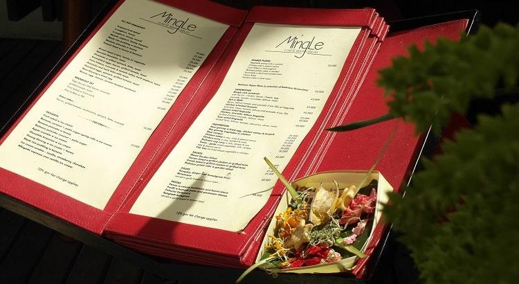 Restaurant menu in Ubud, Bali. Where to eat in Ubud?