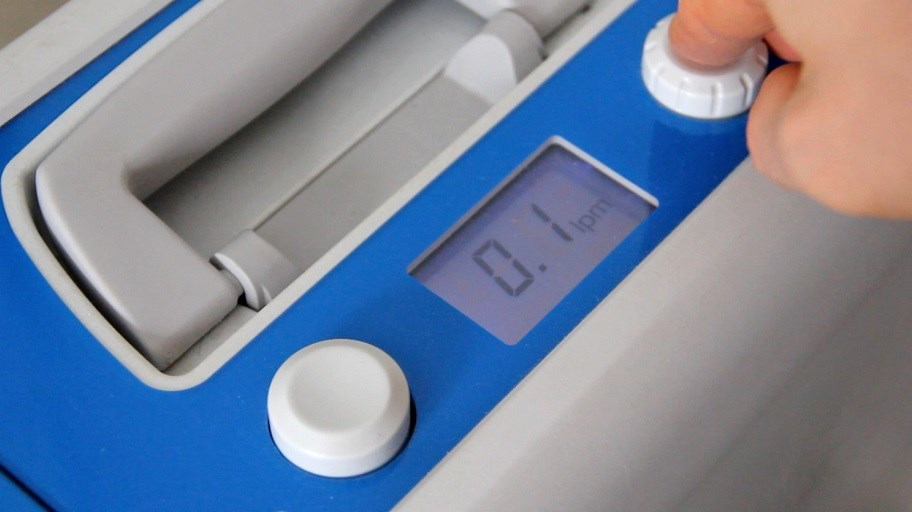 Adjust Kröber O2 oxygen concentrator for ozone rectal insufflation