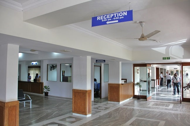 Reception of Apollo Victor Hospital, Goa