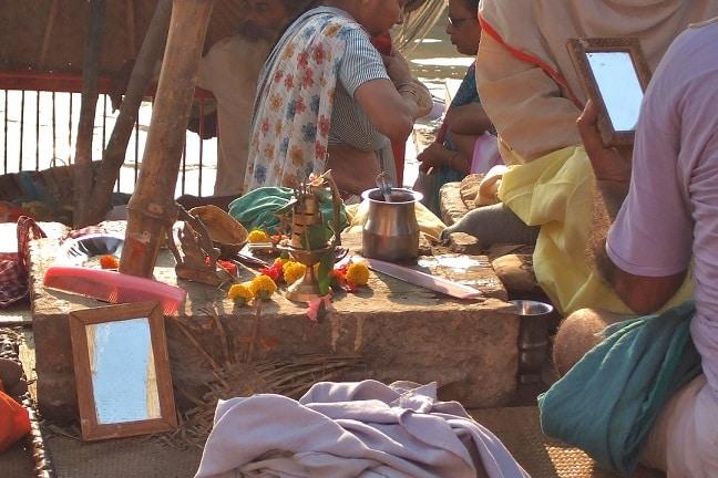 Varanasi beauty parlour, India