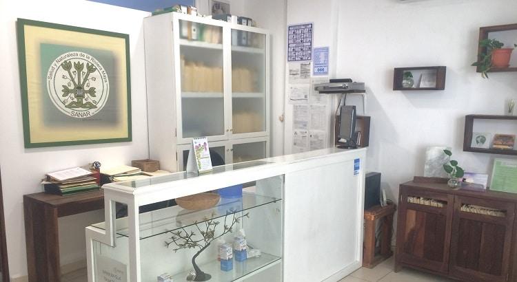 Sanar clinic reception in Playa del Carmen, Mexico