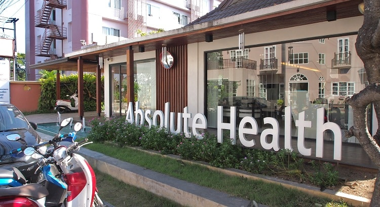 Absolute Health clinic outside, Chiang Mai, Thailand. Medical tourism in Thailand is growing.