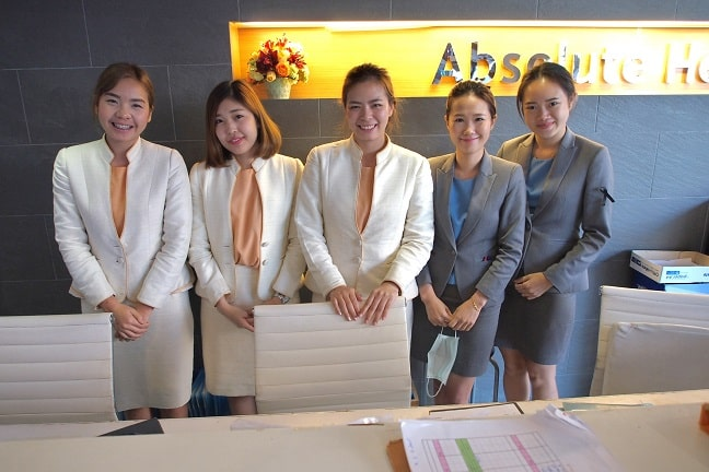 Staff at Absolute Health, Chiang Mai, Thailand
