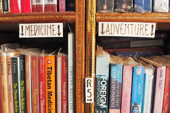 Medicine and adventure library in Bodhgaya, India