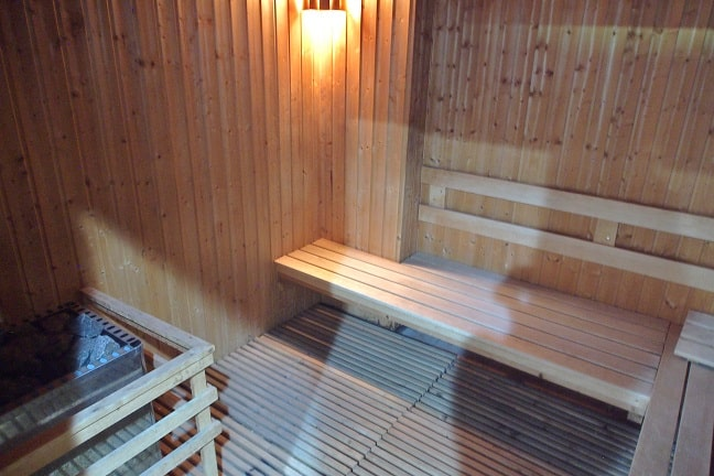 Finnish style Sauna! Even Finnish made Helo stove was there - at Balavi Center, Chiang Mai, Thailand