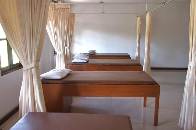 Massage beds at Balavi Center, Chiang Mai, Thailand