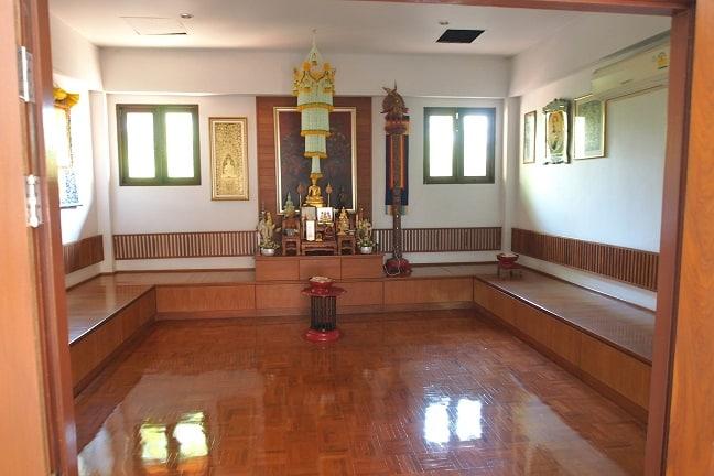 Meditation room at Balavi Center