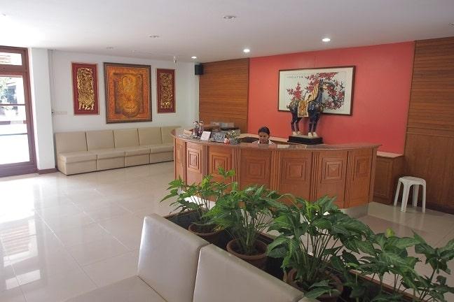 Reception of Balavi Natural Healing Center - Chiang Mai, Thailand