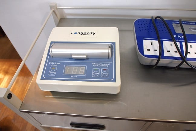 UVBI machine by Longevity - It's used to clean blood with UV radiation