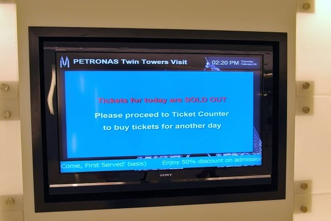 petronas tower ticket counter