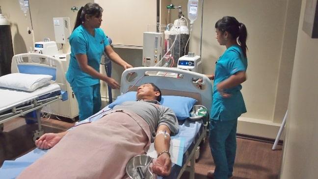OZ Wellness centre-patient on EBOO machine