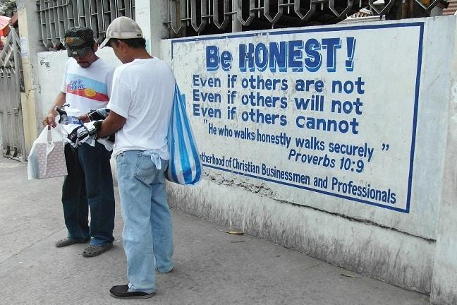 Be honest businessmen
