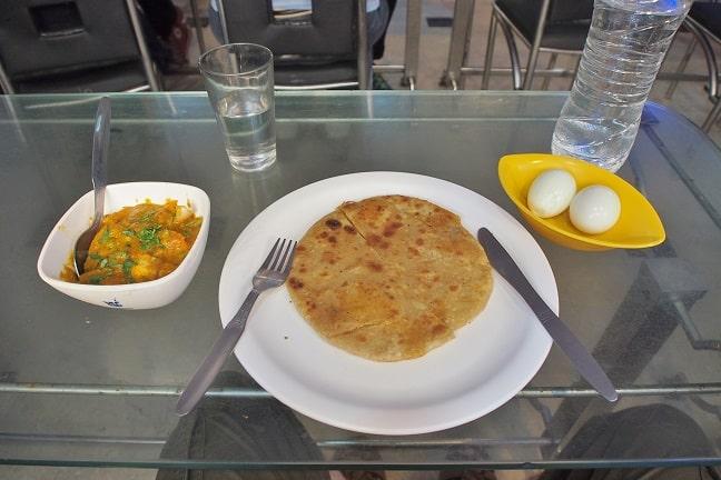 Breakfast at Blue Sky restaurant-Sudder Street-Kolkata