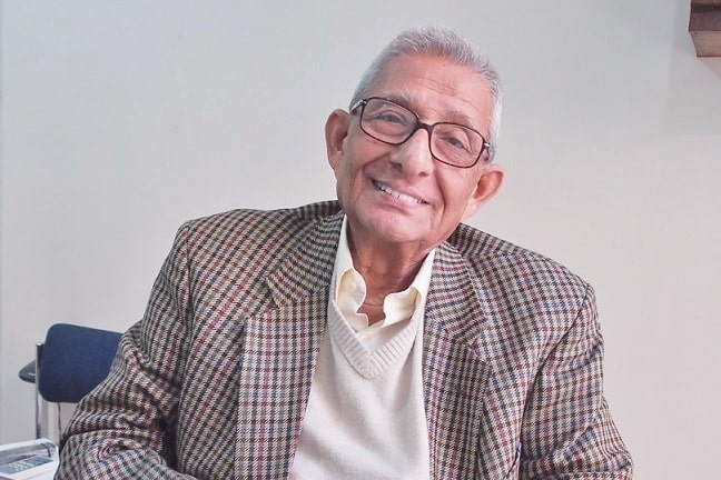Dr.Prasanta Banerji in his office