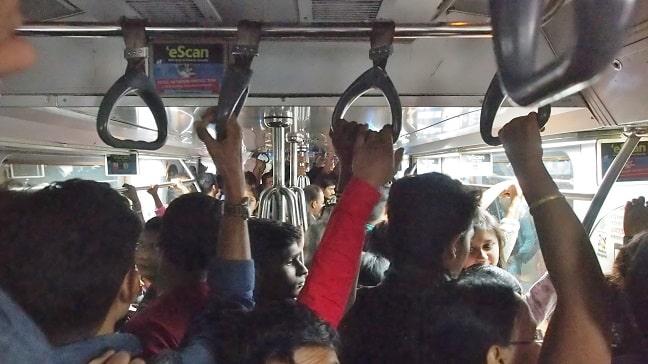 Inside Kolkata Metro