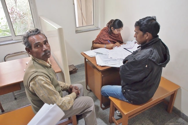 Patients at the assisting doctor-Banerji Clinic
