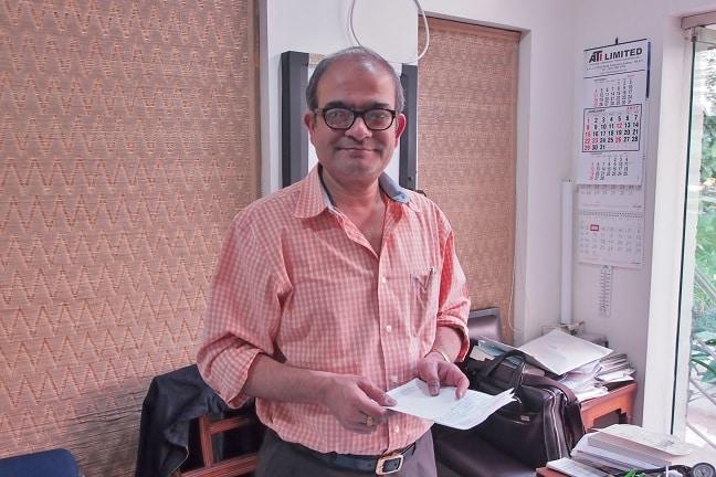 Pratip Banerji in his office