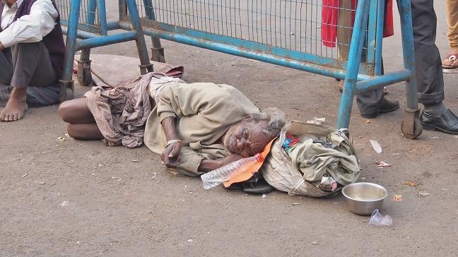 Beggar at Kalighat Temple-Kolkata