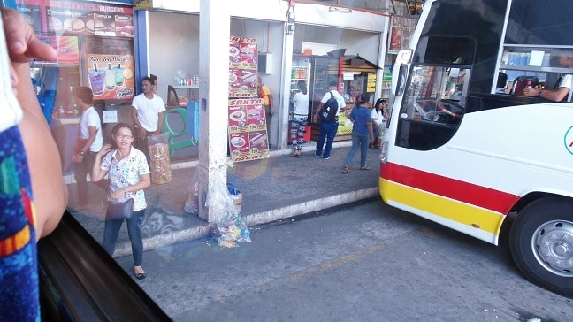 Angeles City bus station Philippines