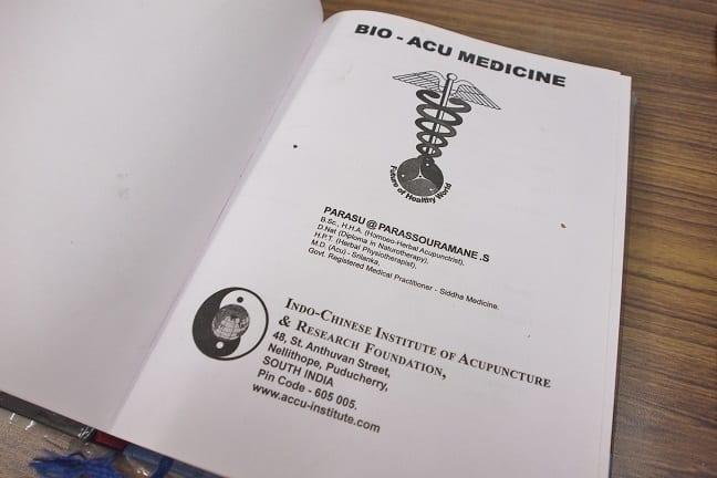 Bio-acu-medicine book by Dr.Parasuraman