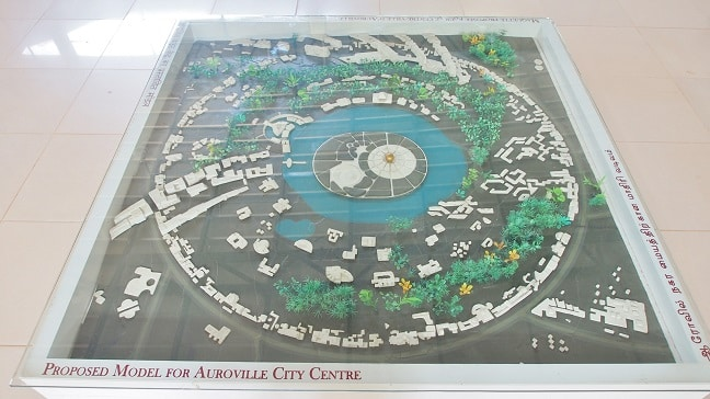 Proposed model for Auroville city center