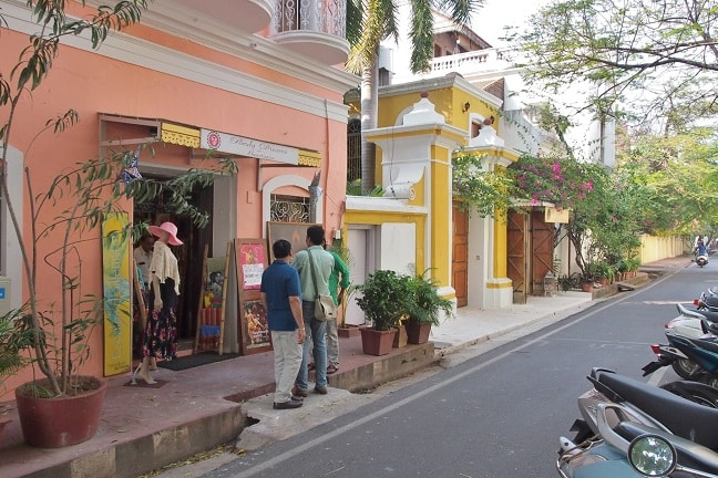 French style White Town in Puducherry - Pondicherry, India