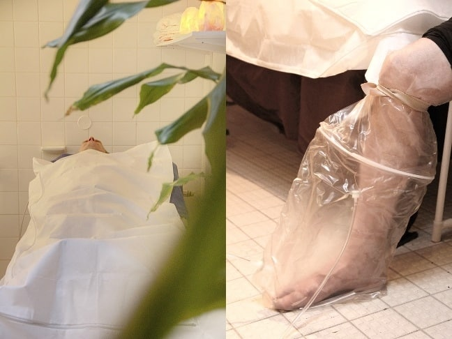 Ozone body bagging and leg bagging