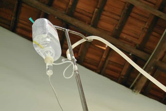 Ozone saline IV drip